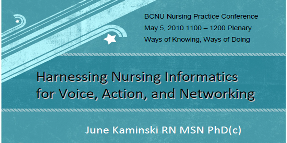 Harnessing Nursing Informatics