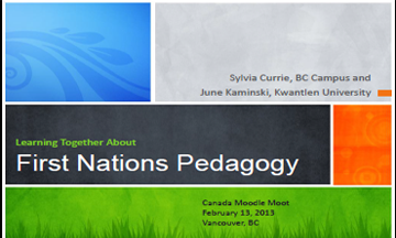 First Nations Pedagogy