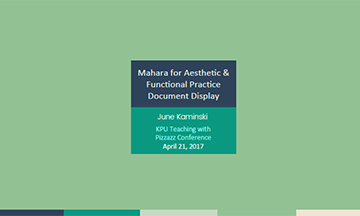 Mahara for Aesthetic & Functional Practice Document Display