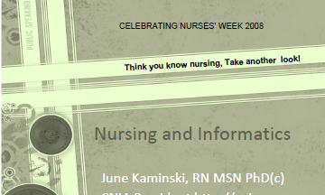 Nurses and Informatics